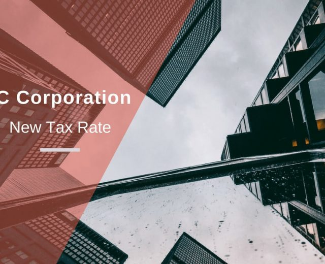 C Corporation New Tax Rate