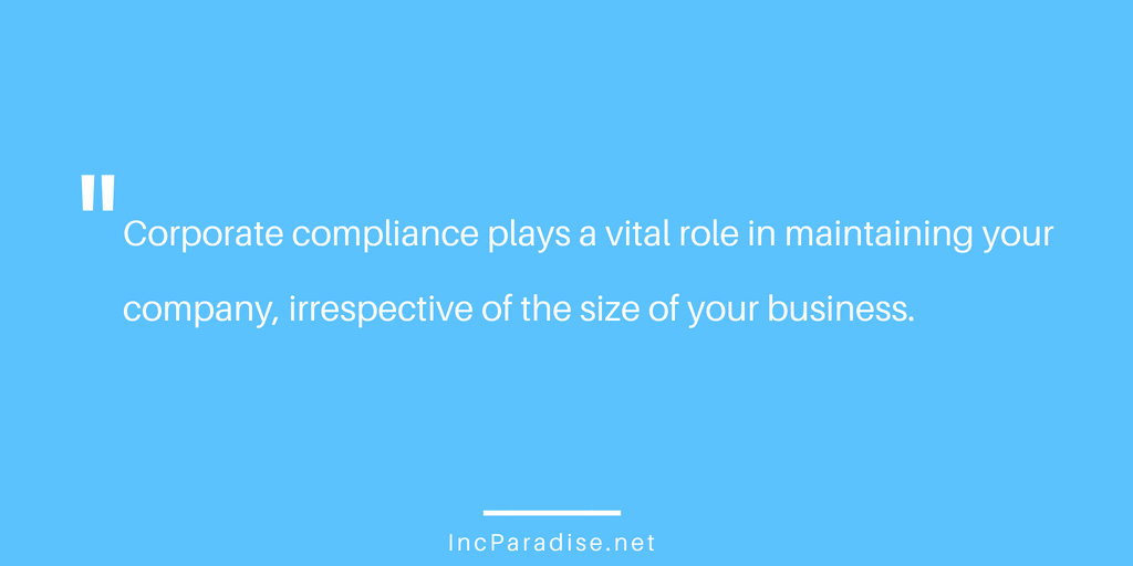 maintain corporate compliance