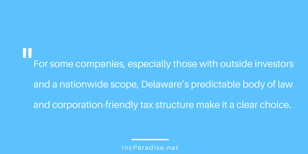 Incorporating in Delaware Advantages