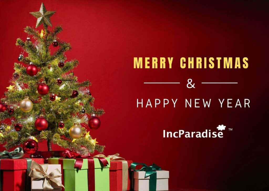 IncParadise Wishes You A Merry X'Mas & A Happy New Year